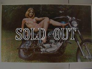 画像1: 70s vintage harley xlch chopper poster デットストック