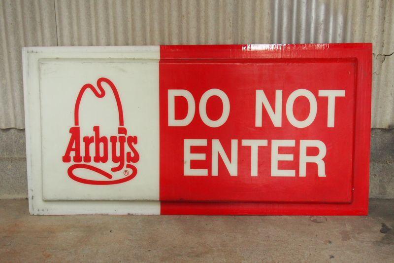 Do Not Enter Garage : Arby s do not enter the california garage