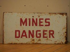 画像1: Mines Danger/Sign
