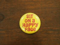 Sit on a Happy Face/yellow/red